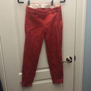 J. Crew scalloped coral pants